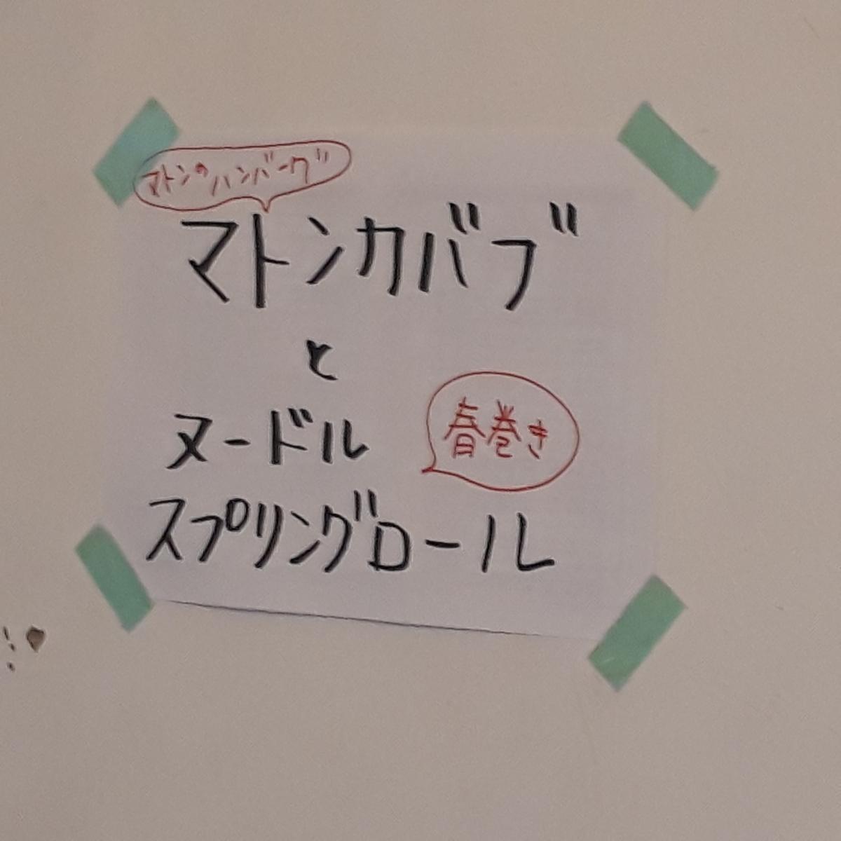 カレー事情聴取スパイス定食&バルVol.6 2019年7月19日 ガネーシュN メニュー